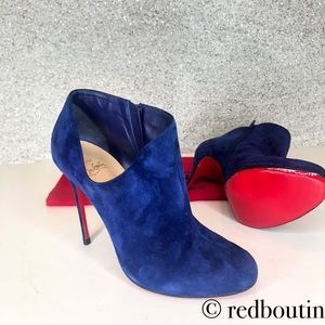 Christian Louboutin Lisse blue suede ankle boots
